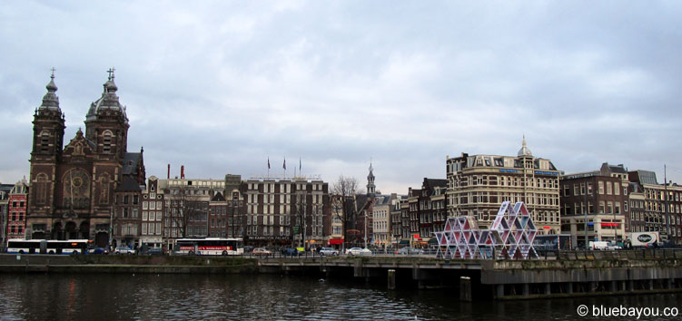 A nice view: the waterfront of Amsterdam.
