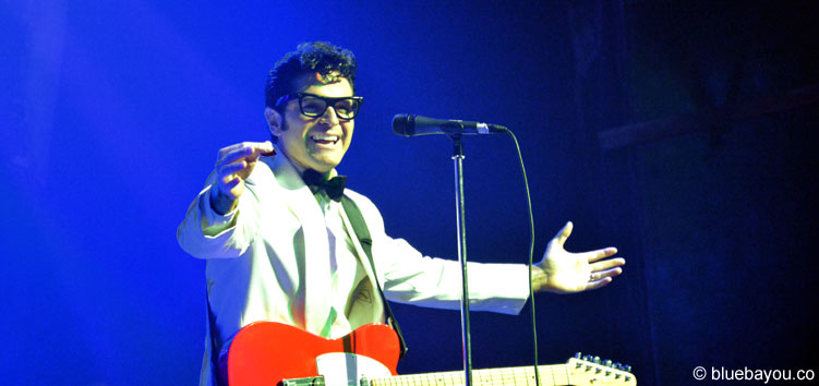 Dean Z as Buddy Holly during Elvis Week 2015.