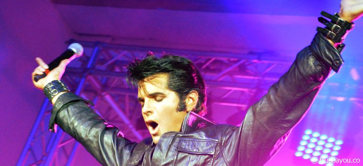 Dean Z totally rocks the stage and performs just like the King of Rock 'n' Roll.