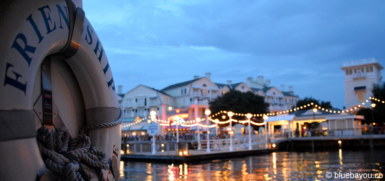 View from the boat to the Disney's Yacht Club Resort at the Walt Disney World, Florida.