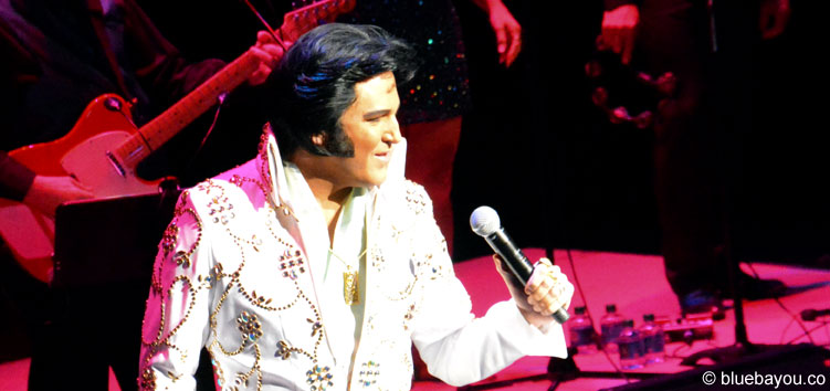 Dwight Icenhower live on stage during the Ultimate Elvis Tribute Artist Contest Finals 2015.