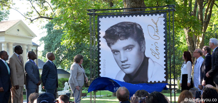 The revealing of the elvis forever stamp during elvis week 2015