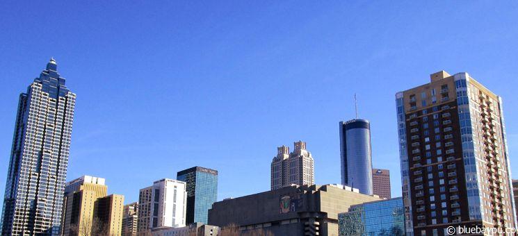 Gorgeous weather in Downtown Atlanta.