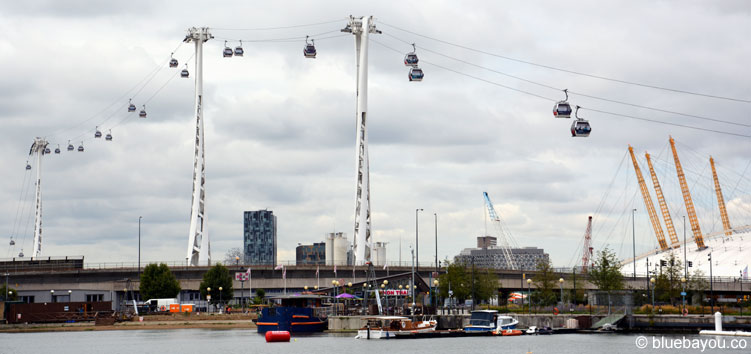 The Emirates Airline at the o2 arena.
