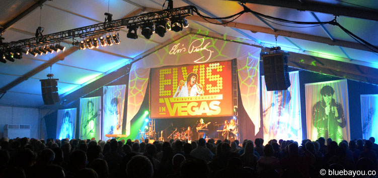 The Elvis in Vegas Tribute Concert featuring the Terry Mike Jeffrey Band during Elvis Week 2015.