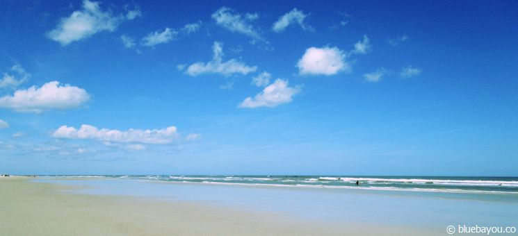 The beach in New Smyrna Beach.