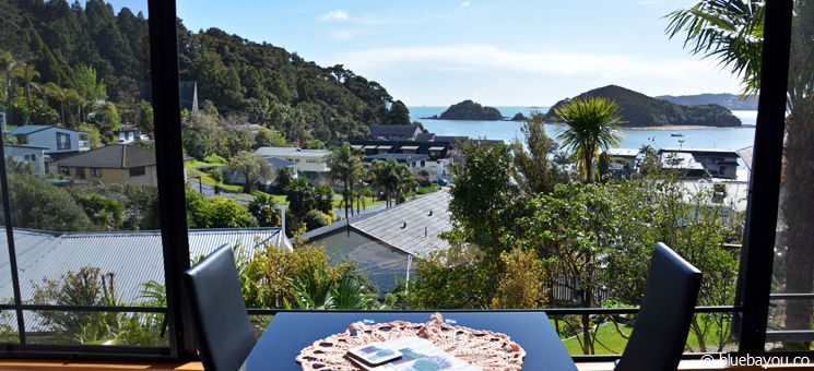 View from the suite of Abri Apartments, Paihia, New Zealand