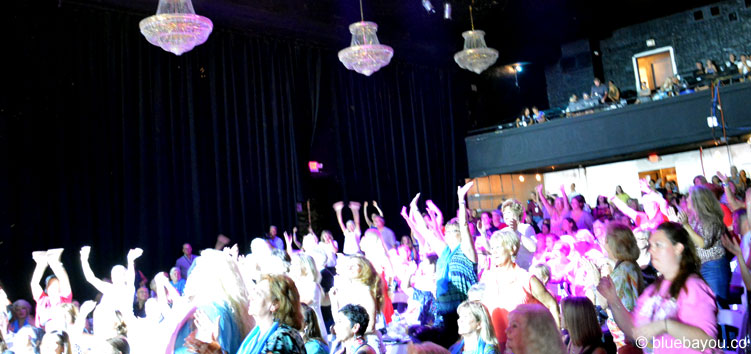 Standing ovations for Ben Portsmouth during Elvis Week at the New Daisy Theater in Memphis.