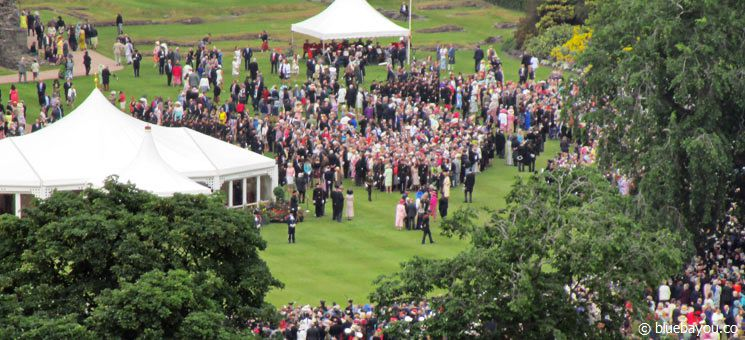The Queen's Royal Garden Party in Edinburgh, Scotland. Perhaps she is on this picture, too!
