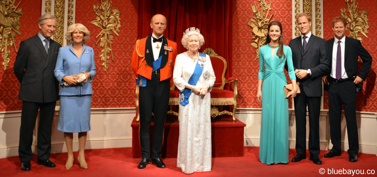 The Royal Family at Madame Tussauds London.