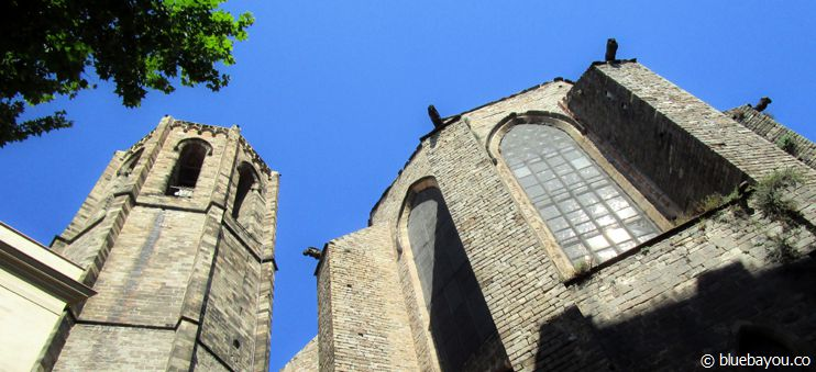 The Basilica de Santa Maria del Pi right behind the Travel Bar (meeting spot for the free walking tour).