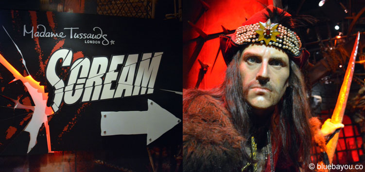 Dracula (Vlad the Impaler) at Madame Tussauds London.