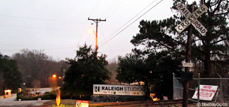 The Walking Dead location in Senoia, Georgia: The Raleigh Studios, where, among others, the prison scenes had been shot.
