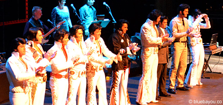 The Top 10 finalists during the Ultimate Elvis Tribute Artist Contest 2015.